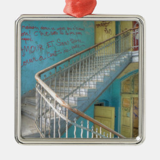 Treden 01.0, Verloren Plaatsen, Beelitz Zilverkleurig Vierkant Ornament