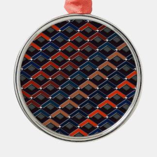 Treden in het patroon Altona van Treden Zilverkleurig Rond Ornament