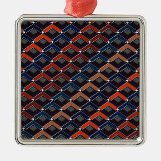 Treden in het patroon Altona van Treden Zilverkleurig Vierkant Ornament