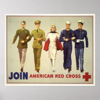 Treed - Amerikaans Rode Kruis toe Poster