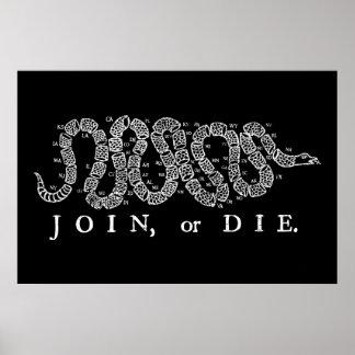 Treed toe of sterf Druk Poster