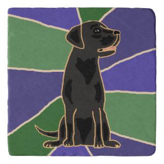Treeft van de Steen van de Kunst van de Labrador Trivet