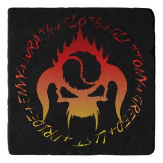 Treeft van de zeven de dodelijke zonden marmeren trivet