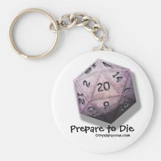 Tref te sterven voorbereidingen Keychain Basic Ronde Button Sleutelhanger