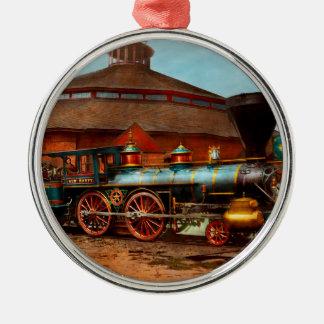 Trein - Burgeroorlog - Algemene Haupt 1863 Zilverkleurig Rond Ornament