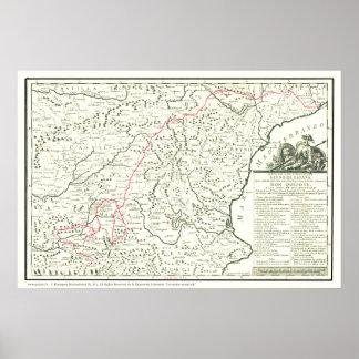 Trek Don Quichot Route Map-Mapa DE La Ruta del Poster
