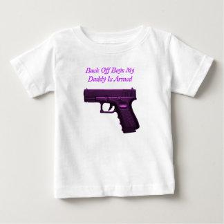 Trek Jongens terug mijn papa wordt bewapend Baby T Shirts