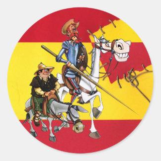 TREK QUIJOTE&SANCHO aan - de Spaans-Vlag van de Ronde Sticker