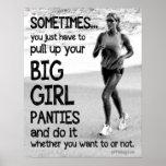 Trek Uw Grote Damesslipjes van het Meisje uit Posters