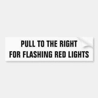Trekkracht aan het Recht voor Opvlammende Rood Bumpersticker