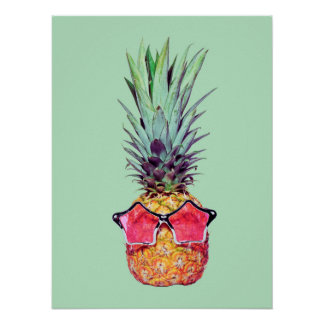 Trendy ananas poster