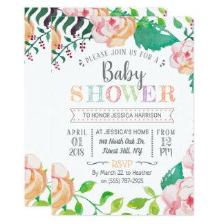 Trendy Baby shower van de Typografie van de Lente Kaart