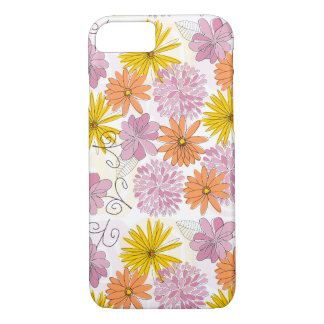 Trendy bloemenpatroon iPhone 7 hoesje