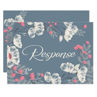 Trendy BloemenUitnodiging RSVP/Response van het Kaart