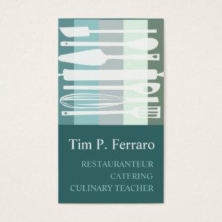 Trendy Culinaire Chef-kok van Cook van de Bakkerij Visitekaartjes