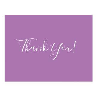 Trendy Elegante Lavendel van de Kalligrafie dankt Briefkaart