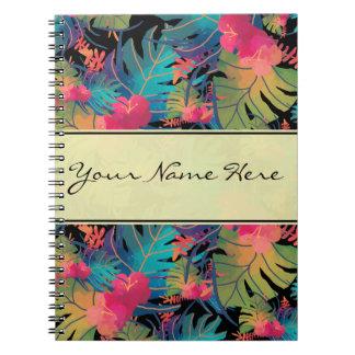 Trendy Exotische Tropische Bladeren met Goud Notitie Boeken