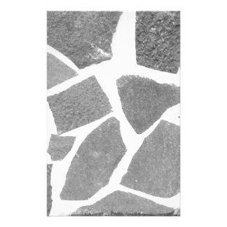Trendy Grijze Witte Patroon van de Tegel, de Gpersonaliseerd Briefpapier