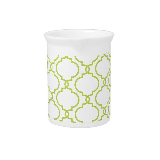Trendy Groene Patroon van het Limoen Limonade Pitcher