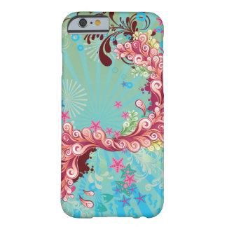 Trendy iPhone 6 van aqua roze oceaanwervelingen ho Barely There iPhone 6 Hoesje
