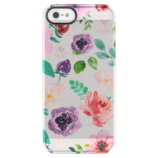 Trendy Kleurrijke Patroon van de Bloemen van Doorzichtig iPhone SE/5/5s Hoesje