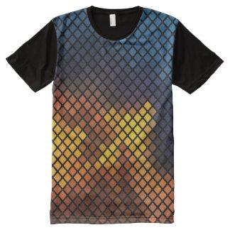 Trendy kleurrijke Patroon van het Mozaïek All-Over-Print T-shirt
