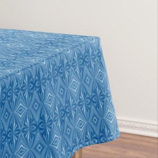 Trendy Modieus Uniek Blauw Patroon Tafelkleed