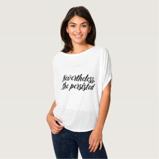 Trendy niettemin duurde zij meme typografie voort t shirt