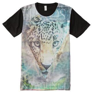 Trendy Ontwerp van het Oerwoud All-Over-Print T-shirt