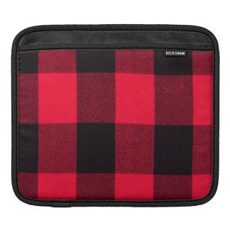 Trendy Plaid van de Buffels van Kerstmis Rode en iPad Beschermhoes