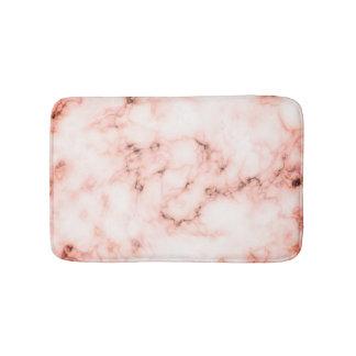 Trendy roze en witte marmeren ontwerp van de badmat