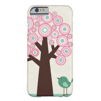 Trendy roze groene de vogeliPhone 6 van de cirkels Barely There iPhone 6 Hoesje