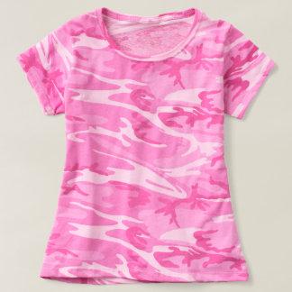 Trendy Roze T-shirt van de Camouflage