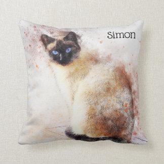 Trendy Siamese Gepersonaliseerde Kat van de Sierkussen