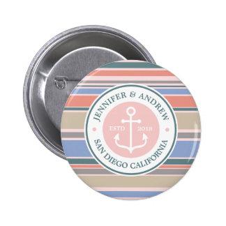 Trendy Strand van het Anker van het Monogram van Ronde Button 5,7 Cm