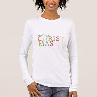 Trendy Vrolijke typografie van Kerstmis T Shirts