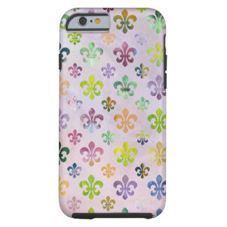 Trendy Waterverf die Fleur DE Lis Pattern Tough iPhone 6 Hoesje