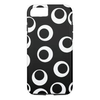 Trendy zwart-wit retro ontwerp iPhone 7 hoesje
