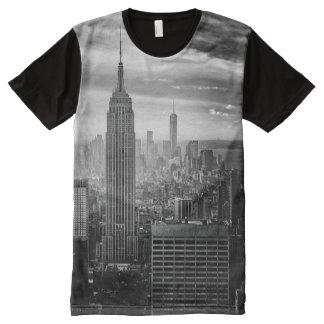 Trendy Zwart-witte Overhemd van New York All-Over-Print T-shirt