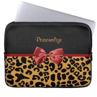 Trendy Zwarte en Gouden Boog van het Lint van de Laptop Sleeve