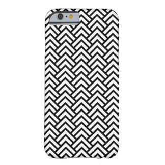 Trendy Zwarte & Witte Hoesje van iPhone van het Barely There iPhone 6 Hoesje