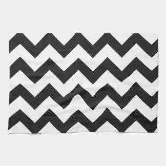 Trendy Zwarte & Witte Patroon van de Chevron Theedoek