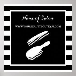 Trendy Zwarte Witte Teken van de Salon van het Poster