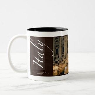 Trevi Fontein, Rome, Italië Tweekleurige Koffiemok