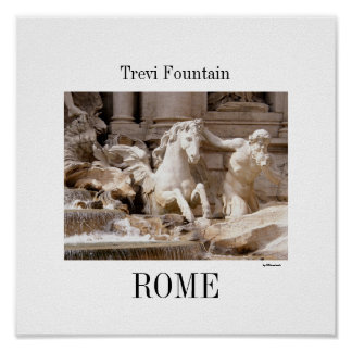 Trevi Fontein, Rome Poster