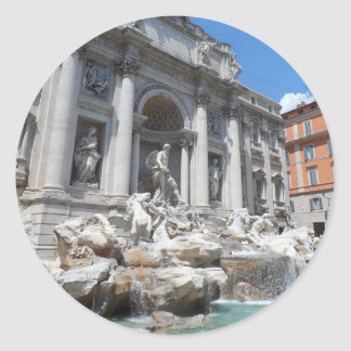 Trevi Fontein Rome Ronde Sticker