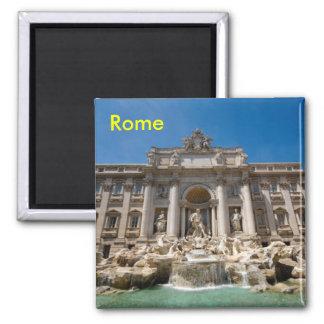 Trevi van Rome Fontein Vierkante Magneet