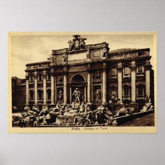 Trevi van Rome fontein Poster