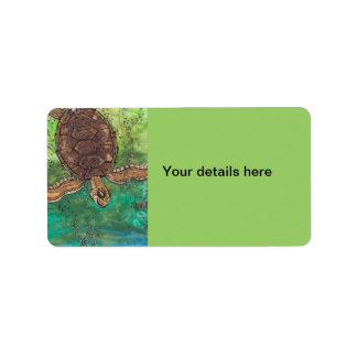 Trevor de Schildpad Etiket