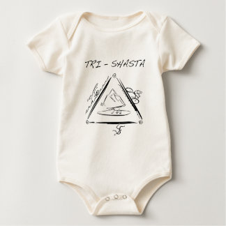 Tri-Shasta-Triathalon-logo Baby Shirt